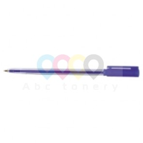 Długopis MICRON 0,7 mm, obudowa przezroczysta, niebieski