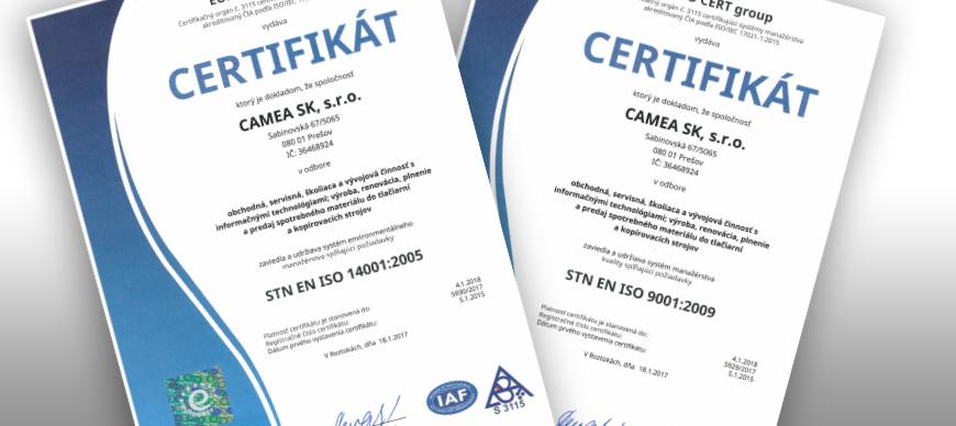 ISO certyfikat